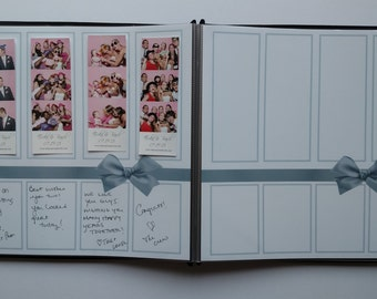 Silver Bow Photo Booth Guest Book Album