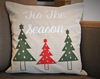 Christmas pillow cover, Christmas decor, Christmas Tree Pillow, Merry Christmas pillow, Tis the season