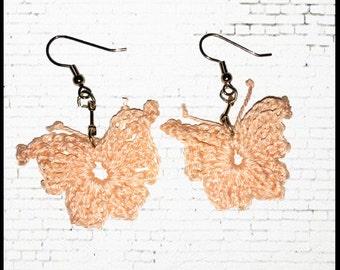 Simple Butterflies Crochet Earrings Pattern