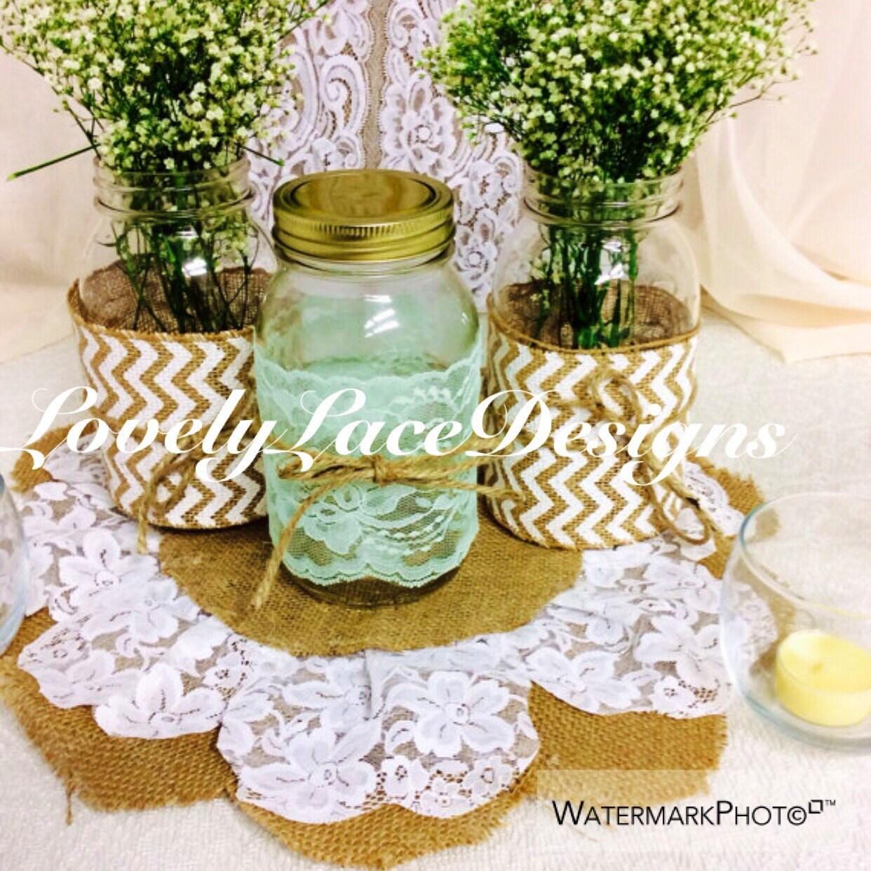 mint lace trim mason jars lace 4 inch wide 4 yards table. Black Bedroom Furniture Sets. Home Design Ideas