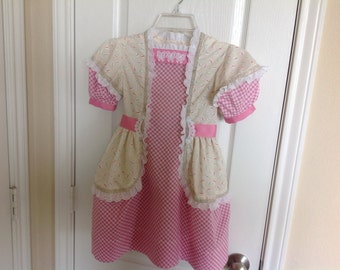 "Girl's Vintage Dress and Purse Size 5--""Millicent"""