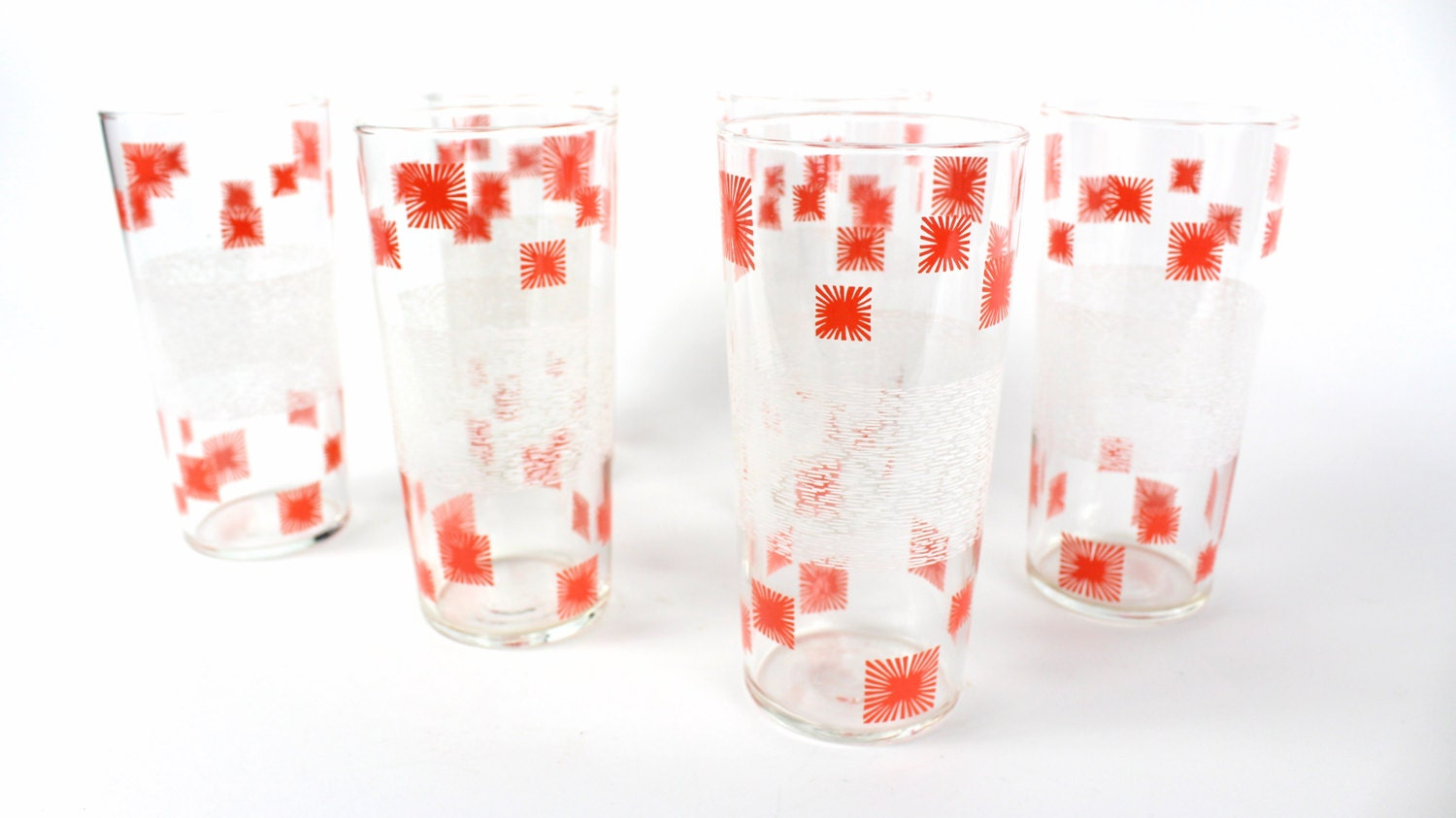Atomic starburst glassware barware mid by flyingfigsvintage - Starburst glassware ...