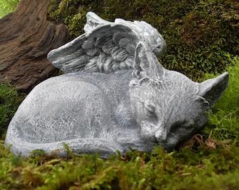 Angel Cat Statue,Cat Angel Statue,Cat Memorial,Sleeping Cat Statue,Pet Memorial,Garden Cat Decor, Cat Statue,Cat Angel Statue Cement Stone