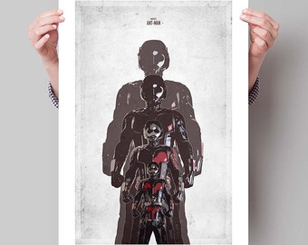 "ANT-MAN Inspired Minimalist Movie Poster Print - 13""x19"" (33x48 cm)"