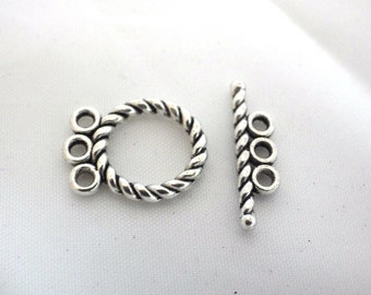 20 x Fancy Toggle Clasps with 3 Attachment Loops