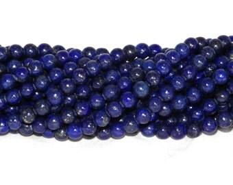 A Grade Lapis Lazuli Beads - 8mm