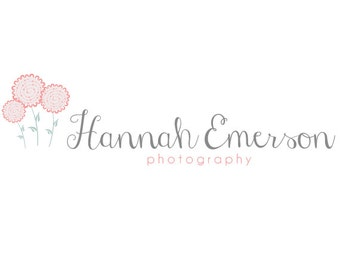 Pre-made Logo Design & Photography Watermarks - Flower Logo Template - Flower Watermark Design - Premade Photography Logo - Photo Logo 221