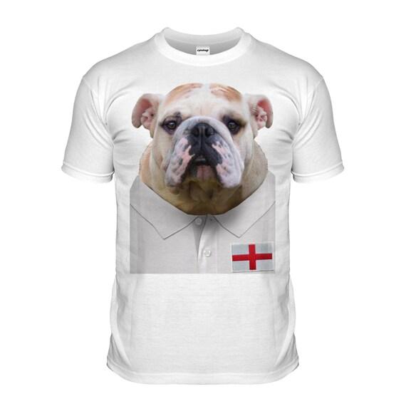 England rugby bulldog t shirt english bull dog tshirt puppy T shirts for english bulldogs