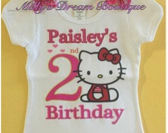 Hello Kitty Personalized Birthday Tshirt/ Birthday T-shirt