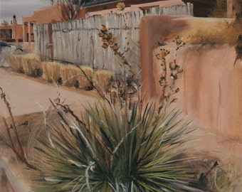 Yucca on Lomita Winter 2014 by Santa Fe, New Mexico artist Raquel Underwood