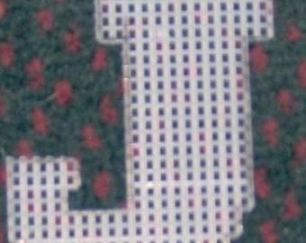 4 inch pre cut plastic canvas letters J