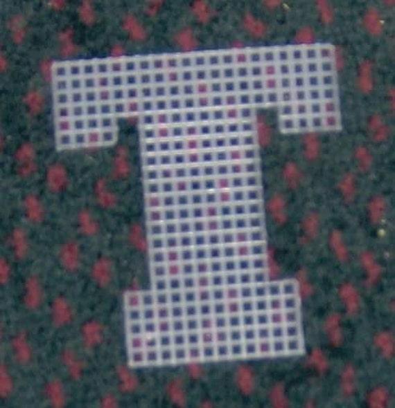 4 Inch Pre Cut Plastic Canvas Letters T