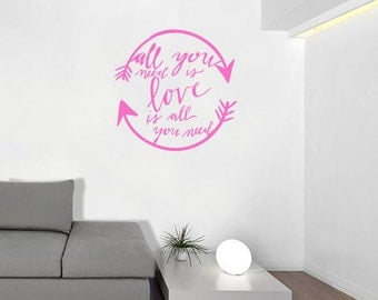 Love Is All You Need - Infinity Arrow Wall Decal