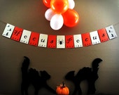 Halloween Party Banner (Hocus Pocus!) with witches and spider artwork