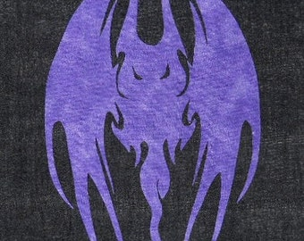 Creepy Bat Quilt Applique Pattern Design PDF