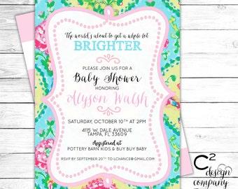 Brighter World Baby Shower Invitation