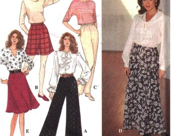 Simplicity Sewing Pattern 8677 Misses' Full Pants, Skirt both in two lengths Size:  AA  XS-MD  Uncut