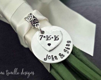 Wedding Bouquet Charm, Bridal Bouquet Charm, Bridal Shower Gift, Wedding Remembrance, Bouquet Charms Wedding, Bouquet Jewelry