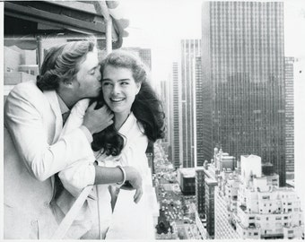 """Original photograph Brooke Shields & Christopher Atkins-""""The Blue Lagoon""""- New York - dated: 6/20/80- Movies"""