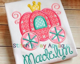 Princess Carriage Machine Applique Design