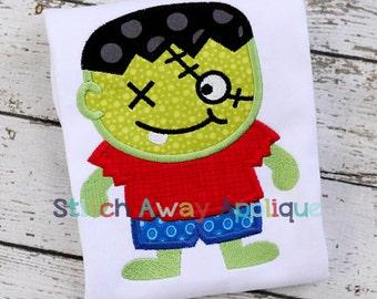 Zombie Boy Halloween Machine Applique Design