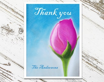 Rose Thank You Cards