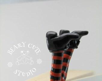 Unique bookmark, Witches legs bookmark, Novelty bookmark