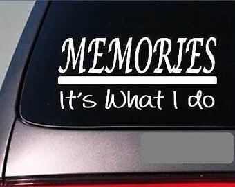 Memories Sticker Decal *E315* Camera Picture Photographer Scrapbooking Art