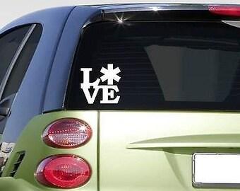 """Emt Love 6"""" Sticker *F229* Decal Ambulance Emergency Er Room"""