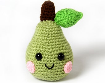 PATTERN: Pear Amigurumi Crochet Pattern - PDF Digital Download