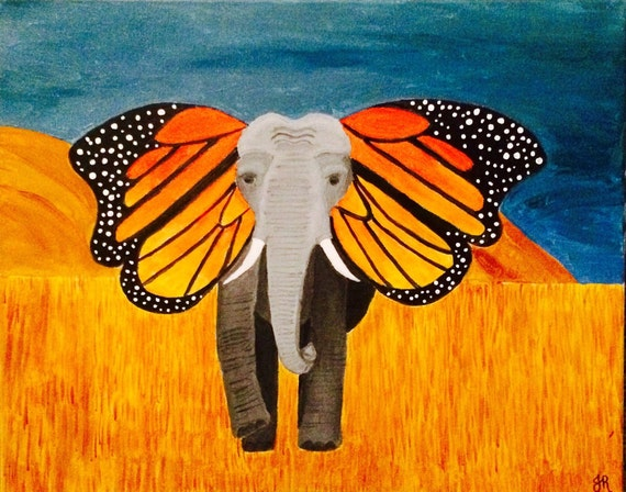 painted elephant butterfly - photo #6
