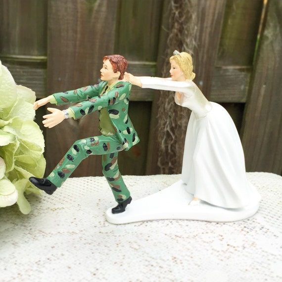 army man wedding cake topper wedding cake topper humorous runaway fleeing 10823