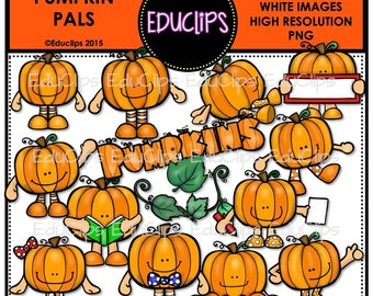 Pumpkin Pals Clip Art Bundle
