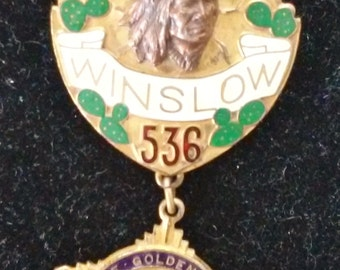 1914 BPOE Golden Jubilee Denver, CO Winslow AZ Badge-me1817003