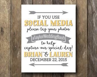 Wedding Hashtag Sign Printable
