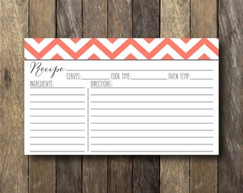 Printable 3x5 Recipe Card - Instant Download