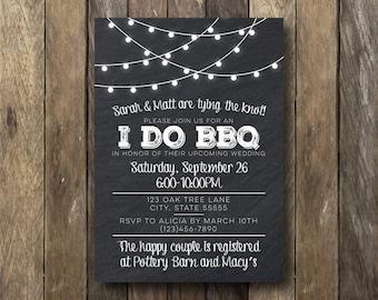 I Do BBQ Invitation - Printable Invitation - I Do BBQ Engagement Party - I Do BBQ