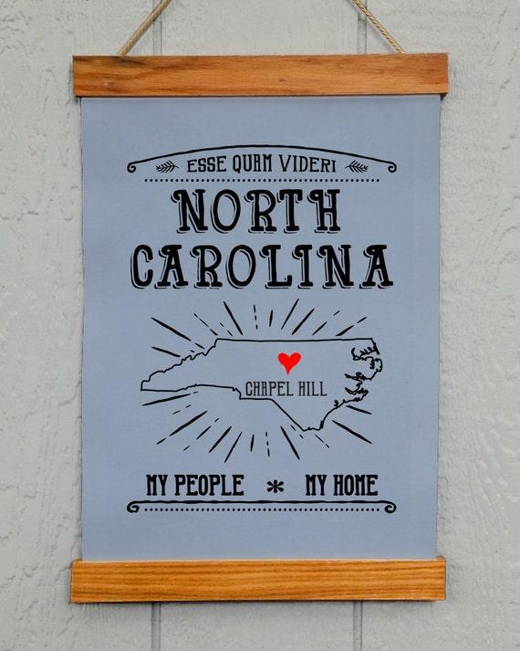 North Carolina Wall Decor Chapel Hill Nc My People My