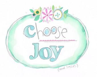 Girls art - Modern kids art - Whimsical children's art - Encouraging art - Motivation art - Flower art - Watercolor art - Baby art - Tweens
