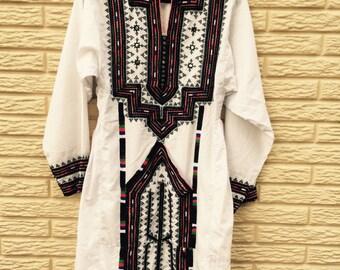 White Baluchi dress