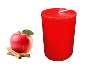 Apple Cinnamon Scented Pillar Candle 30 hours size 8 x 5.5 cm
