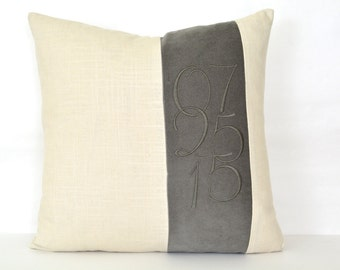 Wedding Date Pillow - Personalized Wedding Gift