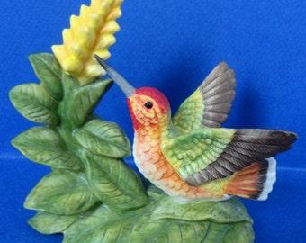 1990's Vintage Allen's Hummingbird with Aphelander Flower