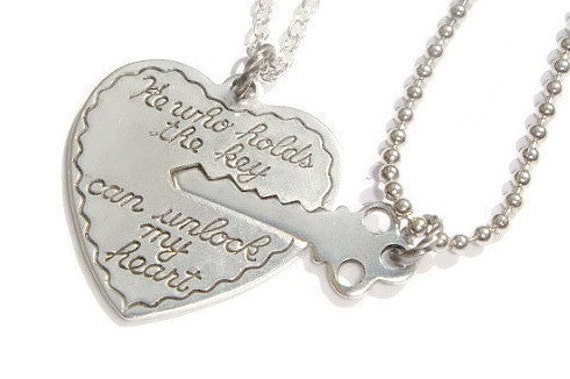 Key To My Heart Necklaces Couples Necklace Set He Who Holds