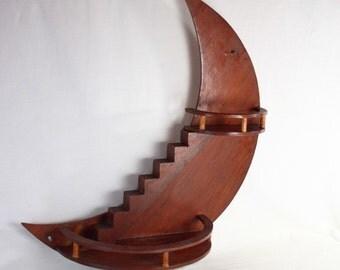 Vintage Crescent Moon Knick Knack Shelf