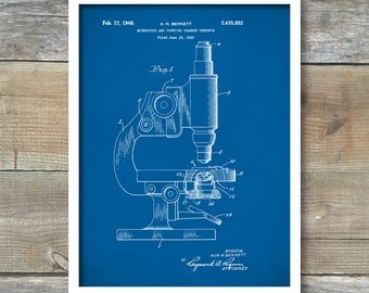 Patent Print, Microscope Poster, Microscope Patent, Microscope Print, Science Art, Microscope Print, Office Decor, Wall Art, P123