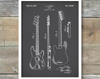 Fender Bass Guitar Poster,Fender Bass Guitar Patent,Fender Bass Guitar Print,Fender Bass Guitar Decor, Fender Bass Guitar Blueprint,P150