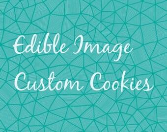 Edible Image Custom Cookie Order listing