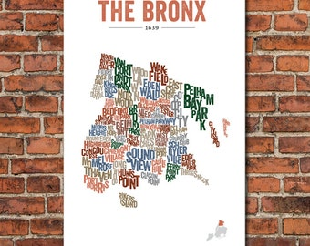The Boroughs of New York City Series – The Bronx, Art Print