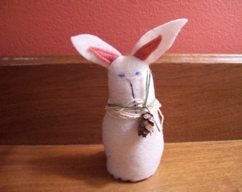 Vintage Hand Made Felted Bunny Rabbit